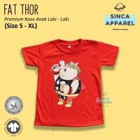 Baju Kaos Anak Cowok Laki - Laki Fat Thor Superhero Premium