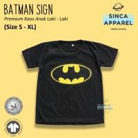 Baju Kaos Anak Laki - Laki Superhero Batman Lengan Pendek Premium