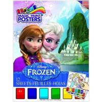 Buku Mewarnai Disney Frozen Magic Paint Posters Book 12 Lembar