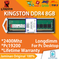 RAM PC KINGSTON DDR4 8GB PC19200 / 2400MHZ LONGDIMM MEMORY 8 GB DDR 4