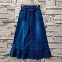 rok jeans panjang anak tanggung/levis anak perempuan