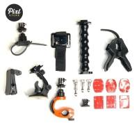 Aksesoris Mounting Lengkap Full Set Action Cam Xiaomi Yi Gopro Kit 3