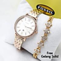 jam tangan WANITA ROMAWI FREE GELANG dropship