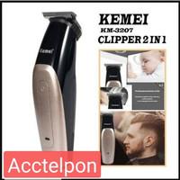 Kemei KM-3207 Hair Clipper Trimmer Charger Cordless Haircut KM 3207