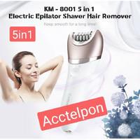 New Kemei Km-8001 5 In 1 Lady Electric Epilator Shaver Hair