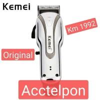 Kemei Alat Mesin Cukur Rambut Rechargeable Hair Clipper KM-1992 Cas