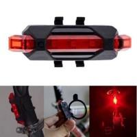 Lampu Belakang Sepeda. LED Rechargeable.