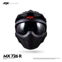 JPX Full Face MX-726R Black Doff/Red
