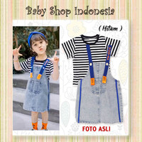 Setelan Overall Anak Perempuan Murah Overall Jeans Rok Anak Import