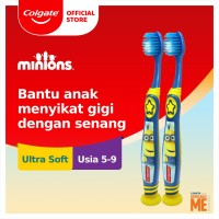 Colgate Kids Minion Toothbrush/Sikat Gigi 5-9 tahun x 2