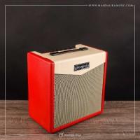 Ampli Gitar Listrik / Amplifier Bass Merk Mandalika Warna Merah
