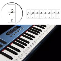 Stiker Label Tuts Nada Keyboard Piano Notes Practice Sticker SV-88