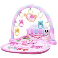 KUKE Baby Play Gym Piano / Play Mat Piano Musical - 992 PINK