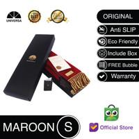 Sajadah Kepala Maroon (S) - Sajadah Polos Bulu Rumbai Kulit UNIVERSA