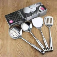 KITCHENWARE SPATULA STAINLESS isi 4 pc SUTIL SET SODET ALAT MASAK