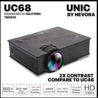 Proyektor Unic UC68 WiFi 1200 Lumens brightness wireless Projektor LED