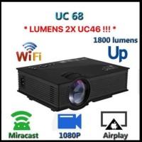 Proyektor Unic UC68 WiFi 1800 Lumens brightness wireless Projektor LED