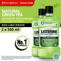 (TWINPACK) LISTERINE® Green Tea Mouthwash / Obat Kumur 500ml