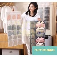 RUMAUMA Gantungan Tempat Pakaian Dalam Bra Kaos Kaki 18 Kantong Murah