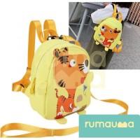 RUMAUMA Tas Ransel Tiger Anak Sekolah Hadiah Kids Boys Girls Backpacks