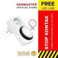 Kenmaster Stop Kontak Timer 24Hour