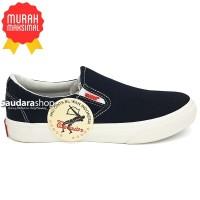 Sepatu Warrior Arthur Black White / Sepatu Warrior Slip On Black White