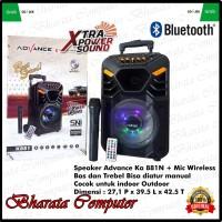 Speaker Aktif Portable Advance K881 Bluetooth Mic Wireless Bass Ori