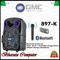 Speaker Bluetooth Portable GMC 897K 8in Super Bass Mic Wireless Ori