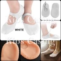 Kaos Kaki Gel Silicone Socks Anti Lecet Slip Silikon Sock Karet Sepatu - Ukuran M, White