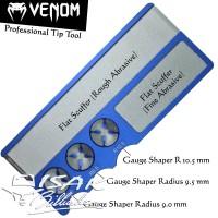 Venom Pro Cue Tip Tool Blue - Shaper Scuffer Stick Billiard Kiu Biliar