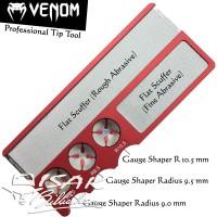 Venom Pro Cue Tip Tool Red - Shaper Scuffer Stick Billiard Alat Biliar
