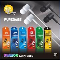 Headset Handsfree in ear headphone JBL PUREBASS JB-01