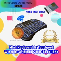 Mini Keyboard i8 Touchpad Wireless 2.4G Color Backlight 3 LED PC TVBox