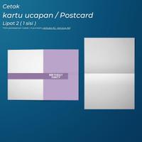 Kartu Ucapan Custom Lipat 2 ( 1 sisi )