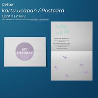 Kartu Ucapan Custom Lipat 2 ( bolak - balik )