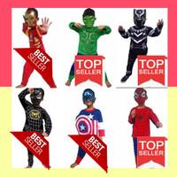Kostum baju anak avenger Hulk spiderman captain america iron man - Merah