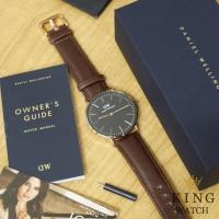 Jam Tangan Pria/Wanita DW Leather Bristol + Box DW