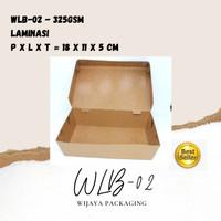 KEMASAN LUNCH BOX ECO PAPER SZ L LAMINATED FREE STICKER UNTUK BRANDING