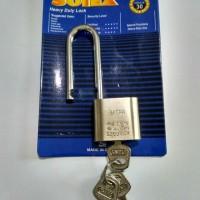 kunci gembok rumah tangga leher panjang 30 mm solex