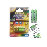 Eurocell rechargeable AAA metal loop go green Battery (isi 2pcs)