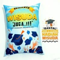 Bantal Kado & Hadiah Wisuda Tema Wisuda Juga 30x40cm