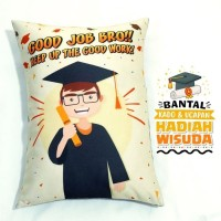 Bantal Kado & Hadiah Wisuda Tema Good Job 30x40cm