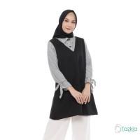 Atasan Muslim Wanita | Celina Blouse | S M L XL | Katun Salur