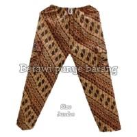 celana batik betawi/celana boim size: JUMBO - Putih
