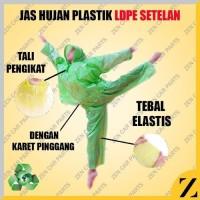 Jas Hujan HDPE Plastik Setelan Baju Celana Raincoat Kualitas Bambu