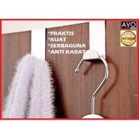 gantungan pintu hanger stainless praktis kuat door hook serbaguna