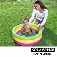 Kolam Mandi Bola Anak Kolam Renang Bayi Play Pool Pelangi 3 ring