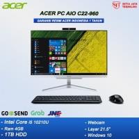 ACER PC ALL IN ONE C22-960 - i5 10210U 4GB 1TB 21,5 FHD WIN10 RESMI