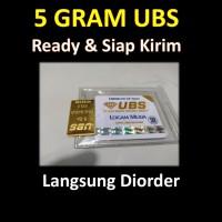 5 Gram UBS Logam Mulia LM Emas Batangan / Ber Sertifikat / Bukan Antam