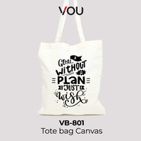 VOU Premium Tote Bag Canvas Blacu - VB801